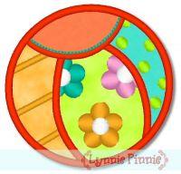 Applique Beach Ball 1 4x4 & 5x7 6x10