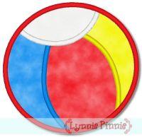 Applique Beach Ball 2 4x4 & 5x7 6x10