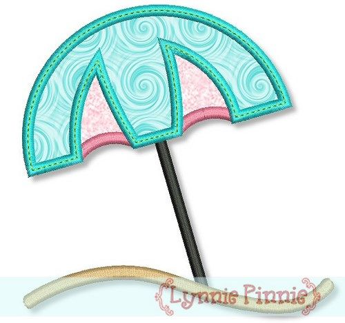 Beach Umbrella Applique 4x4 5x7