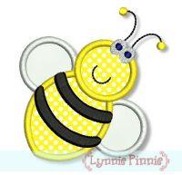 Bumble Bee Applique 4x4 5x7