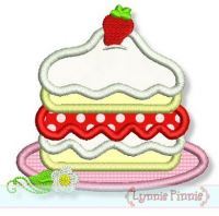 Strawberry Shortcake Applique 4x4 5x7 6x10