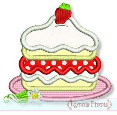Strawberry Shortcake Applique 4x4 5x7 6x10