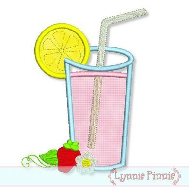 Strawberry Lemonade Applique 4x4 5x7 6x10