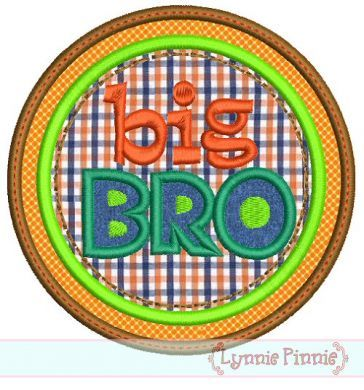Big Bro Double Circle Applique 4x4 5x7 6x10 - Welcome to