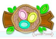 Birds Nest With Eggs Applique 4x4 5x7 6x10 SVG