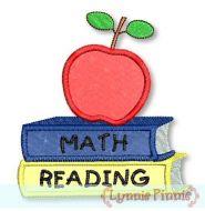 School Books Applique 4x4 5x7