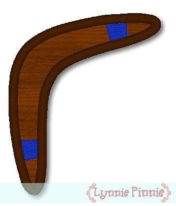 Applique Boomerang 4x4 & 5x7