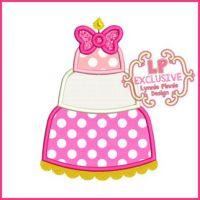 Bow Cake Applique 4x4 5x7 6x10 SVG