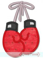 Boxing Gloves Applique 4x4 5x7