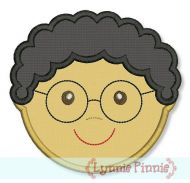 Little Faces - Boy 3 with Glasses Applique 4x4 5x7 6x10