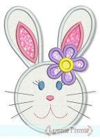 Bunny Girl Applique 4x4 5x7 6x10