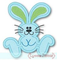 Applique Hopping Bunny 4x4 & 5x7