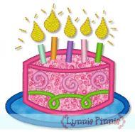 Applique Birthday Cake 4x4 5x7 6x10