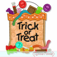 Halloween Candy Bag Applique 4x4 5x7 6x10 7x11