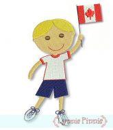 Canadian Flag Boy -Filled 4x4 5x7