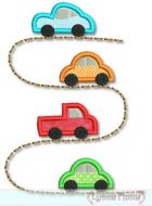 Cars on the Road Applique 4x4 5x7 6x10 7x11 SVG