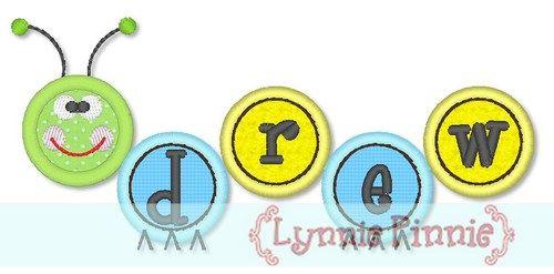 Caterpillar Applique Alphabet