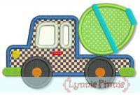 Cement Mixer Truck Applique 4x4 5x7