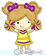 Little Cheerleader Applique 1 4x4 5x7 6x10