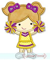 Little Cheerleader Applique 1 4x4 5x7 6x10