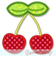 Cherries Applique 4x4 5x7