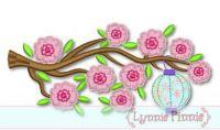 Cherry Blossoms Tree Applique 4x4 5x7 6x10 SVG