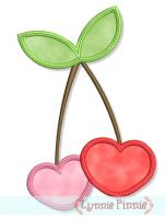 Cherry Hearts Applique