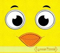 Little Chick Face Applique 4x4 5x7 6x10