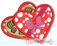 Box of Chocolates Applique 4x4 5x7