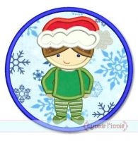 Christmas Pajama Boy Applique 4x4 5x7 6x10 7x11 SVG