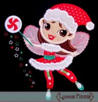 Christmas Fairy with Wings Applique 4x4 5x7 6x10 7x11