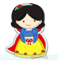 Christmas Princess Applique 3 4x4 5x7 6x10 SVG