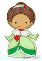 Christmas Princess Applique 4 4x4 5x7 6x10 SVG