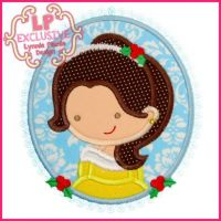Christmas Princess Cameo 1 4x4 5x7 6x10 SVG