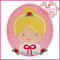 Christmas Princess Cameo 2 4x4 5x7 6x10 SVG2