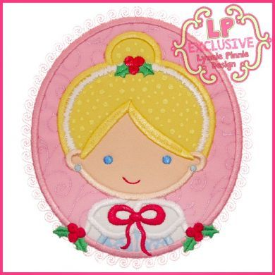 Christmas Princess Cameo 2 4x4 5x7 6x10 SVG2
