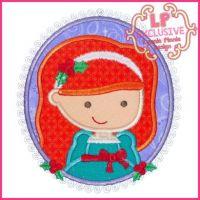 Christmas Princess Cameo 5 4x4 5x7 6x10 SVG