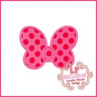 Chunky Bow Applique 4x4 5x7 6x10 7x11 SVG