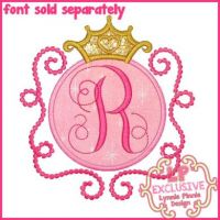 Princess Circle Frame 2 Applique 4x4 5x7 6x10 7x11