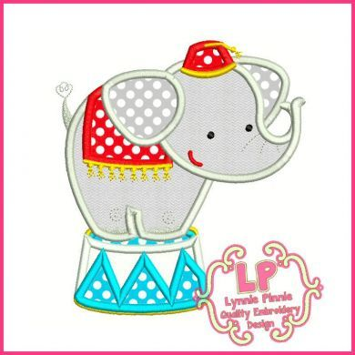 Circus Elephant Applique 4x4 5x7 6x10
