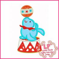Circus Seal Applique 4x4 5x7 6x10