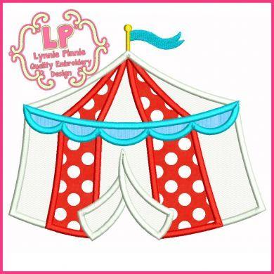 Circus Tent Applique 4x4 5x7 6x10