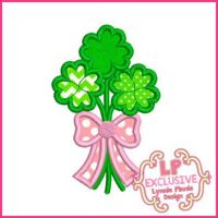 Clover Bouquet Applique 4x4 5x7 6x10