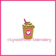 Mini Coffee Frappe Embroidery Design 4x4