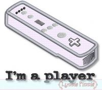 I'm a Player Video Game Controller Applique 4x4 5x7
