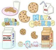 Milk & Cookies Applique Set 4x4 5x7