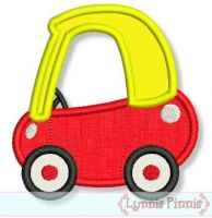 Little Coupe Car Applique 4x4 5x7 6x10 7x11