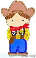 Little Cutie Cowboy Sheriff Applique 4x4 5x7 6x10 SVG
