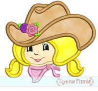 Applique Li'l Cowgirl 4x4 & 5x7