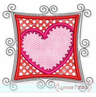 Crafty Heart Applique 4x4 5x7 6x10 7x11 SVG
